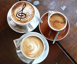 coffee, music, and cup image