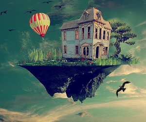 house, Dream, and sky image