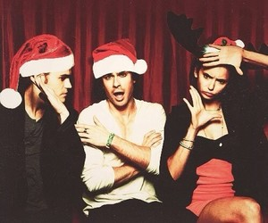 paul wesley, Nina Dobrev, and ian somerhalder image