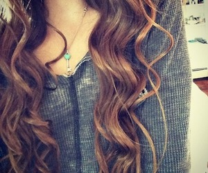 curled, curls, and hair image