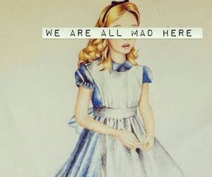 alice in wonderland, cyrus, and thoughts image