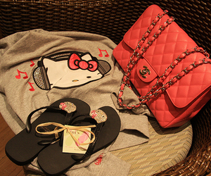 fashion, hello kitty, and chanel image