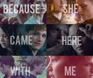 hug, the hunger games, and thoughts image