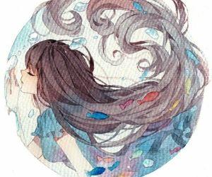 anime, anime girl, and water image