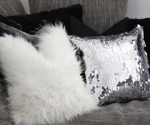 pillow, white, and luxury image
