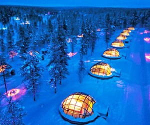 finland, snow, and igloo image