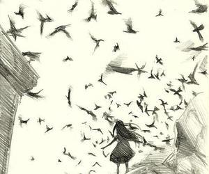 drawing, bird, and art image