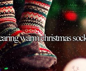 christmas, girl, and socks image