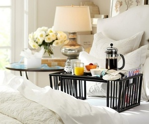 breakfast, bedroom, and home image