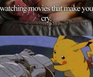 cry, lol, and watching image