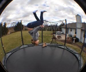 fun, jump, and trampoline image