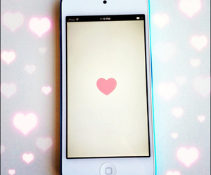 iphone, heart, and we heart it image