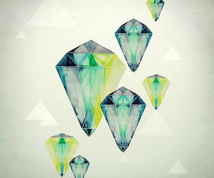 illustration, diamond, and drawing image
