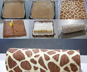 food, cake, and giraffe image