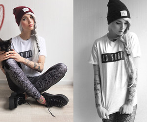 swag, black and white, and girl image