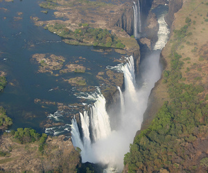 africa, planeta, and waterfall image