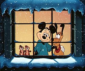 christmas, mickey, and night image