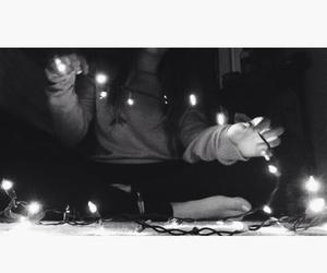 christmas, christmas lights, and girl image