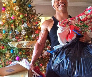 Dwayne Johnson, merry christmas, and happy holidays image