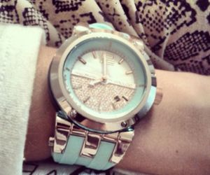 gift, gold, and watch image
