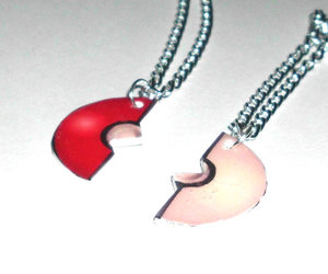 best friends, jewelry, and necklaces image