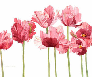 flowers, pink, and art image