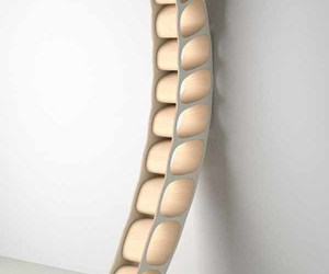 furniture, dna helix cd rack, and unique furniture image