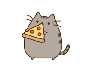 pizza, cat, and overlay image