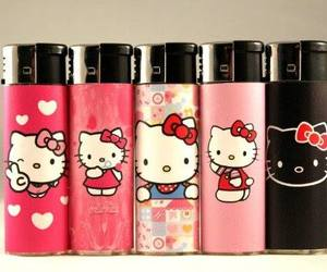 hello kitty, HK, and lighters image