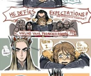 bilbo, hobbits, and thorin image