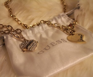 gold, guess, and jewelry image