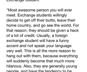 exchange student and true shit image