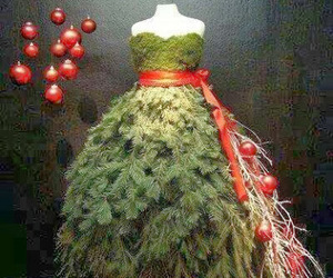 dress, christmas, and christmas tree image