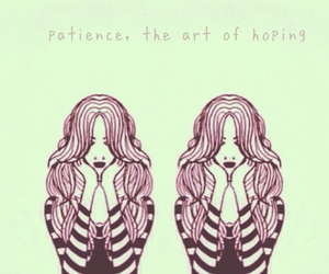 art, illustrations, and patience image