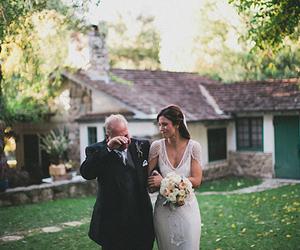 wedding, bride, and dad image