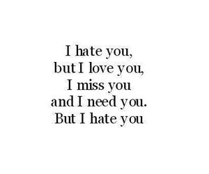 love, hate, and need image