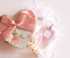 perfume, pink, and heart image