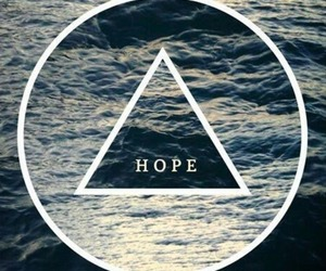 hope, sea, and triangle image