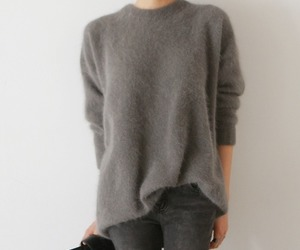 grey, sweater, and winter image