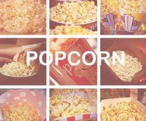 popcorn, food, and corn image