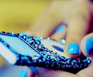 blue, ipod, and nails image