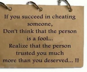 quote, trust, and cheating image