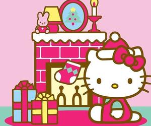 christmas, hello kitty, and kitty image