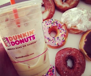 donuts, sweet, and dunkindonuts image
