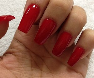 nails, red, and obsesion image