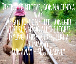 believe, Lyrics, and runaway image