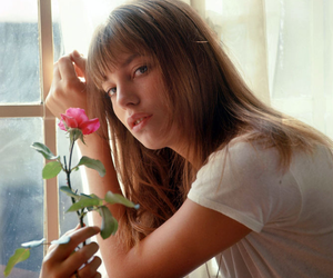 jane birkin, 60s, and flowers image