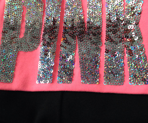 pants, pink, and sequins image