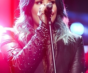 blue hair, live, and demi lovato image
