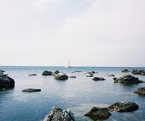 sea, ocean, and boat image